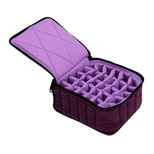 Sac de stockage d'huile essentielle, boîte de stockage d'huile essentielle portable durable stockage d'huile essentielle 30 grille sous-paquet sac d'huile essentielle sac de transport antichoc voyage