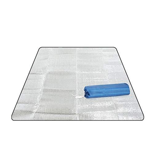 HUIJUAN Estera de picnic para exteriores, impermeable, lámina de aluminio EVA, esterilla para dormir, esterilla de playa