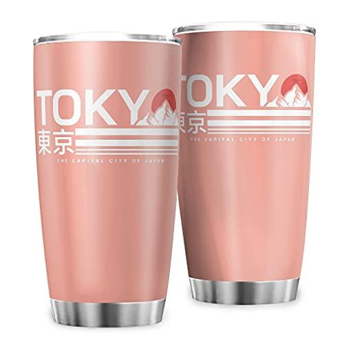 Butterfly Goods Taza de café de agua japonesa Tokio Fuji-Mountain botella aislada – Vintage Classic taza de café con pared duradera para bebidas calientes vcbe 600 ml