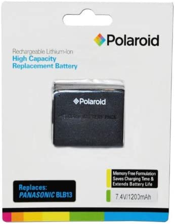 new arrival Polaroid High Capacity Panasonic BLB13 sale Rechargeable Lithium Replacement Battery (Compatible With: DMC-G10, GH1, G2, G1, 2021 L10) outlet online sale