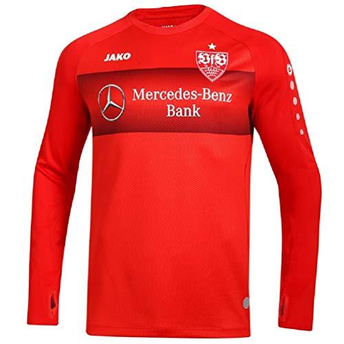 JAKO Erwachsene VfB Stuttgart Teamline Sweat, rot, M