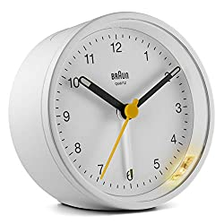Braun Classic Analogue Alarm Clock - BC12W