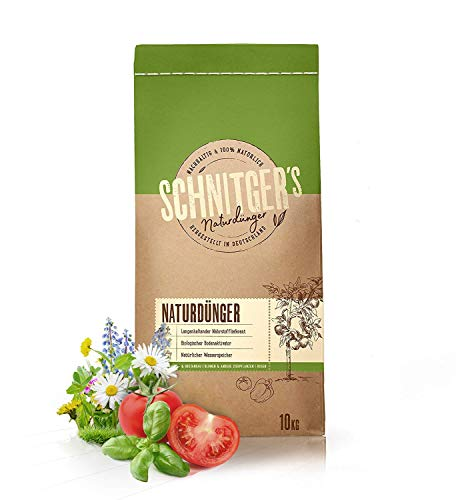 Naturdünger – Universal Pflanzendünger in Bio-Qualität – Langzeitdünger für nachhaltig gesundes Pflanzenwachstum – auch als Bodenaktivator – Dünger von SCHNITGER's – 10kg