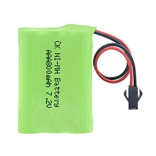 RitzyRose Batería Ni-MH AAA de 7,2 V, 800 mAh, paquete de baterías recargables con conector SM-2P
