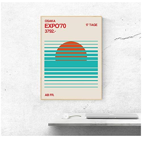 Japan Expo Poster Japan Art Vintage Travel Poster Tokyo Canvas Print Home Decor Wall Art Decor-50x70cm Geen Frame