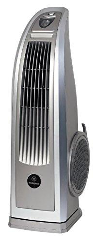 Westinghouse Lighting 7205040 72050 Ethos 76 cm silberfarbener mobiler Ventilator für den Innenbereich, 87 W, 230 V, Silber, 80, 5