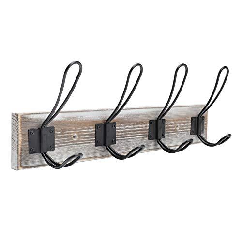 Wall Mounted Coat RackEntryway Wood Wall Coat Rack with 4 Rustic Coat Hooks HangerBedroom Farmhouse to Hanging Towel Coat Hat Bag Jacket Clothes A