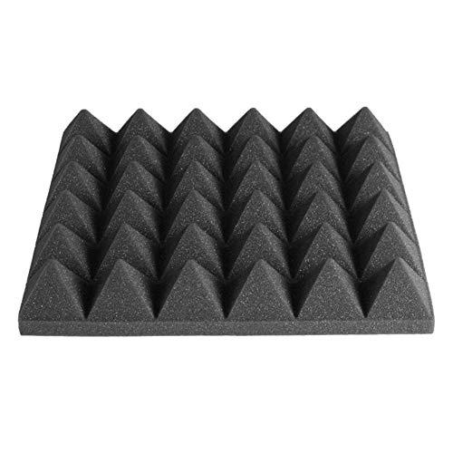 without brand 5Pcs 30x30x5cm Pyramid Schalldämmmaterial Sponge Schalldämmschaum Stop-Absorption Akustikschaum-Panel Drum Room Zubehör (Farbe : Schwarz)