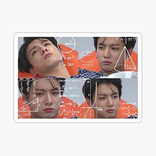Jungkook Confused Meme Sticker Sticker - Sticker Graphic - Auto, Wall, Laptop, Cell, Truck Sticker for Windows, Cars, Trucks