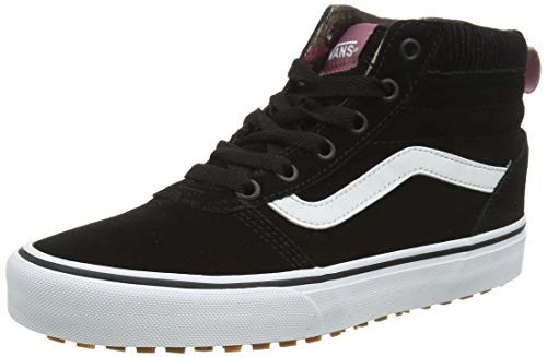 Vans Damen Ward Hi MTE Hohe Sneaker, Schwarz ((Pop Color) Black/True White USM), 38 EU