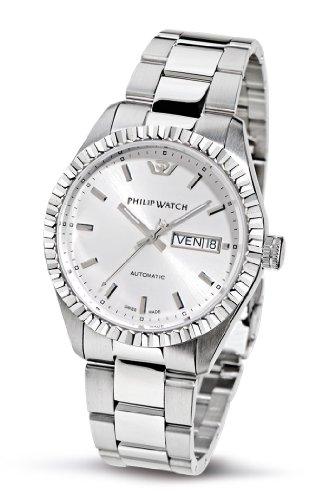 Philip Watch Caribbean R8223107045 - Reloj de Caballero de Cuarzo, Correa de Acero Inoxidable Color Plata