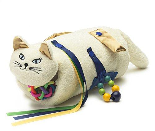 TwiddleCat Therapie Hilfe, sensorische Therapie - Alzheimer, Demenz, Autismus-Therapie-Produkt - Spielzeug für Stressabbau und Angstminderung - Plüsch-Katze