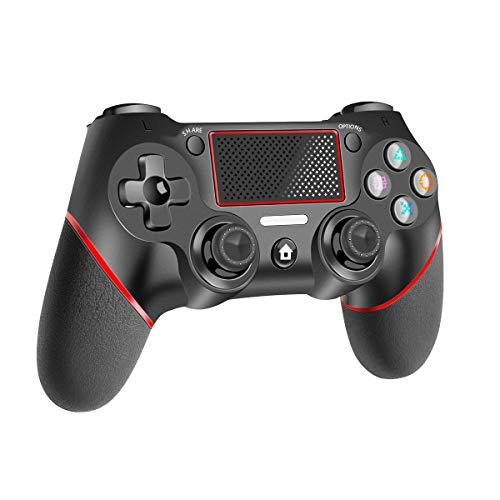 CHEREEKI Controller für PS4, Wireless Controller mit Touchpanel Spielbrett für Playstation 4 / Slim/Pro Joypad mit Dual Vibration Shock und 6 Achsen Gyro Sensor Audiofunktionen Gamepad Joystick