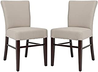 Safavieh Mercer Collection Dwight Linen Side Chairs, Beige, Set of 2