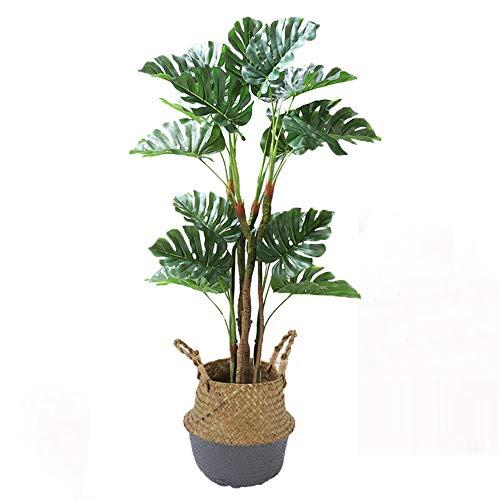 Yipianyun Palme Palmenbaum Königspalme, Cocospalme Kunstpflanze Kunstbaum Künstliche Pflanze Echtholz Hochzeit/Party Empfangstisch Blumen,Grau,170cm
