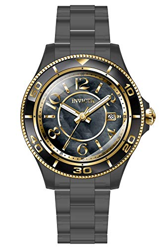 Invicta Reloj analógico de cuarzo negro para mujer 30363