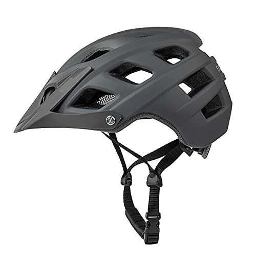G&F Casco Bicicleta Montaña, Visor Protección Seguridad Cómodo Ciclismo Ligero Montaña Y Carretera Cascos Bicicletas para Hombres Adultos Mujeres (Color : Gray)