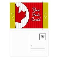 カナダメープルと幸運をカナダ 友人のポストカードセットサンクスカード郵送側20個