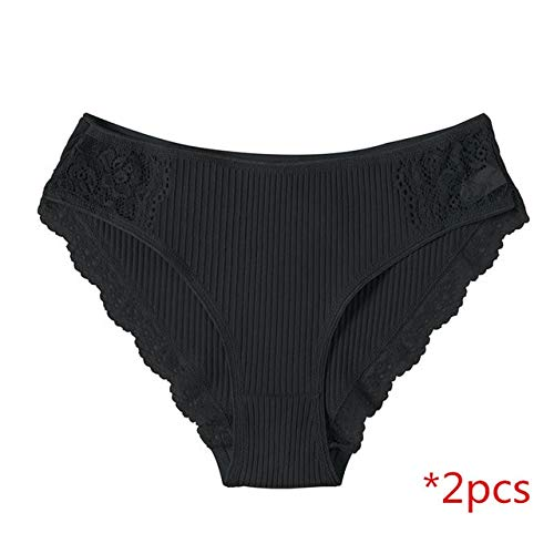 YPDDNK Merk Katoen Broek Vrouwen Ondergoed Broek Kant Briefs Voor Vrouwelijke Gestreept Katoen Panty Lingerie Lage Taille Bloemen Culotte Femme XL donker grijs2