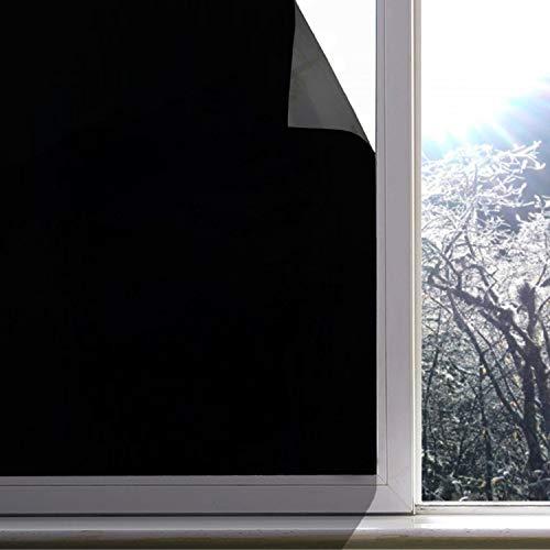 HANHAN Selbstklebender Fenster-Aufkleber, blickdicht, lichtblockend, Raumverdunkelung, Fensterfolie, 50 x 200 cm