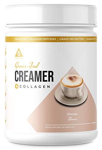 Grass-fed Keto Creamer: Collagen Protein + C8 MCT Oil + Irish Butter   Keto Bomb BPC Coffee Creamer   Ketogenic Diet Ketosis Supplement Ketone Support (Original, 19oz)