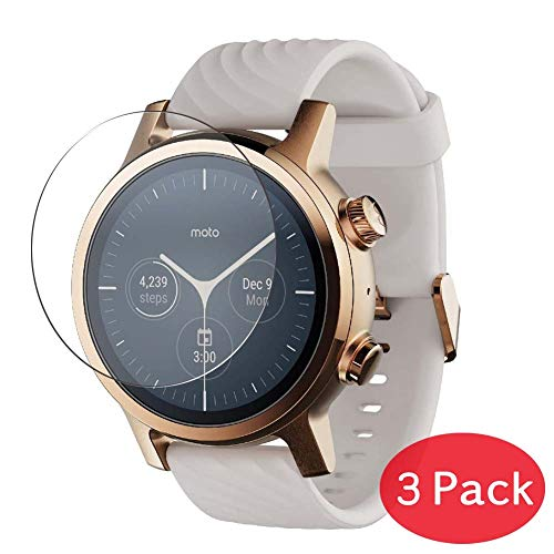 [3 Pack] Synvy Tempered Glass Screen Protector for Motorola Moto 360 3rd Gen Smartwatch 9H Protective Screen Film Protectors