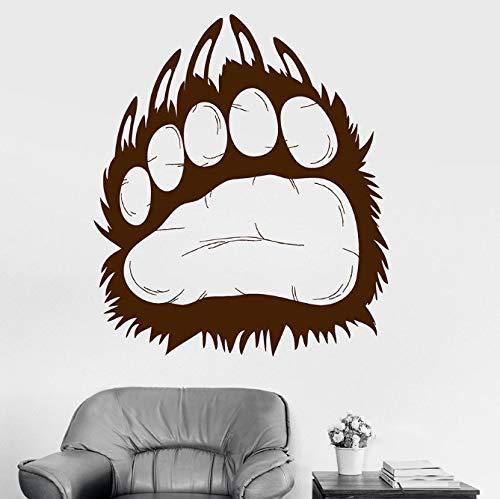 Calcomanía De Pared Oso Grizzly Animal Predator Garra Huella Vinilo Ventana Etiqueta De Vidrio Cool Boy Dormitorio Hombre Cueva Decoración Para El Hogar 42X48 Cm