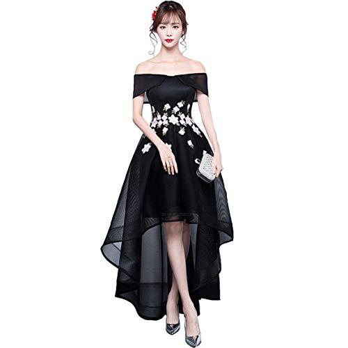 BINGQZ Damen/Elegant Kleid/Cocktailkleider Elegantes kurzes vorderes langes rückseitiges Abendkleid Preiswert Formale Anlasskleider Robe De Soiree
