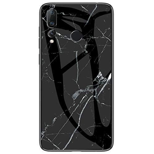 MOONCASE Capa para Huawei Nova 4, capa ultrafina de TPU macio à prova de choque resistente a arranhões e impressões digitais moderna vitral para Huawei Nova 4 de 6,5 polegadas (preto)