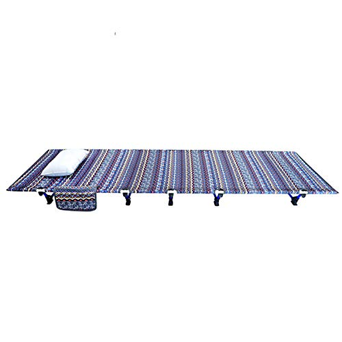 Chinese National Style Ultra Stevige Camping Cot Portable Folding Beach Bed, Office comfortabel slapen bed met Storage Bag En opblaasbaar kussen