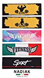 NADIAK Toalla Gimnasio-Toalla de Microfibra Ideal para Sala de Musculación-Toalla Deporte Ultraligera para Hombres y Mujeres.Sport,Fitness,Gym Fabricada en Italia. (Gimnasio para Hombre Big)