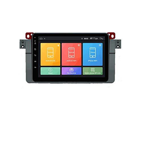 Android 10 Autorradio Navegación del Coche Unidad Principal Estéreo Reproductor Multimedia GPS Radio IPS 2.5D Pantalla táctil porE46 (1998-2006) M3(1998-2006)