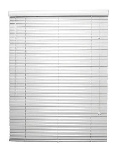 spotblinds Custom Made 1 Inch Choice Aluminum Mini Blinds 69 Inches to 81 Inches in Width by 43 Inches to 60 Inches in Length (This Blind Will be 76' W x 56' L) White Grey Black Brown Red Blue