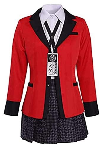 Cosplay Kleidung Kostüm Schuluniformen, Kakegurui Yumeko Jabami Yomozuki Runa Anime Cosplay Mary Saotome Kostüm Japanische Hyakkaou Rock Anzüge Strumpf Mädchen Schule Uniform Karneval Party Outfits