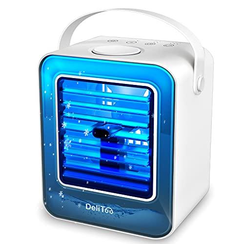 【2021最新型 & 一台三役】 冷風機 冷風扇 卓上扇風機 加湿 550ML 氷冷却 小型クーラー 空気清浄 風量3段...