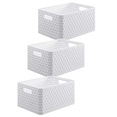 Rotho Country - Set di 3 scatole, Bianco, A5 / 6 Liter (28 X 18,8 x 12,6 cm)