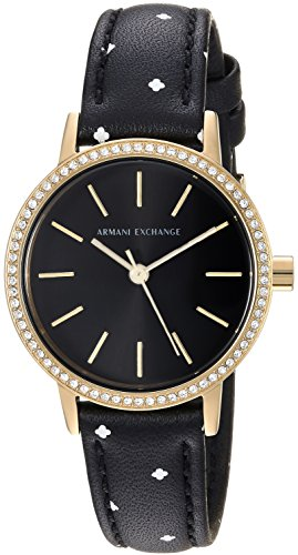 Armani Exchange Women's Black Leather Watch AX5543
