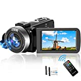 Video Camera Camcorder,2.7K Full HD 30FPS 42MP Vlogging Camera for YouTube 18X Zoom Digital Camera 3.0 Inch Flip Screen Recording Camera with Remote Control and Two Batteries