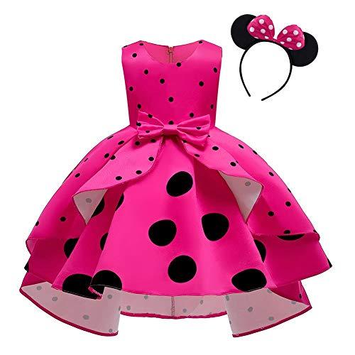 Vestido de Lunares de Princesa para Bebé Niña Minnie Disfrace para Fiesta...
