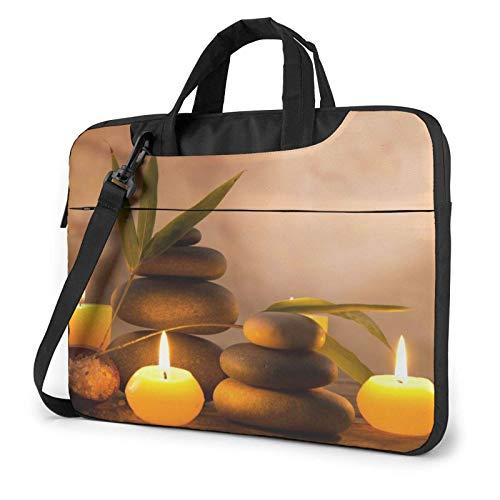 Candles Zen Printed Laptop Shoulder Bag,Laptop Case Handbag Business Messenger Bag Briefcase