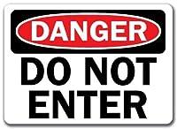ガーダーン屋外&屋内サインインチ、危険サイン-入力しないでください、ヴィンテージマン洞窟ガレージサインバーサイン金属壁錫サイン壁アートシンボルポインターデカール金属サイン