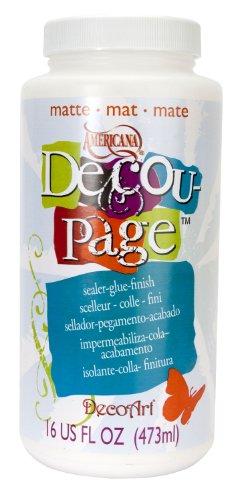 DecoArt 16-Ounce Decoupage Glue, Matte Finish