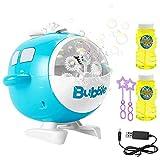 EXTSUD Máquina de Burbujas para Niños, Juguete de Baño para Bebés, con 2 Botellas de Burbujas, Regalo para Niños, Apto para Fiestas, Cumpleaños, Bodas al Aire Libre