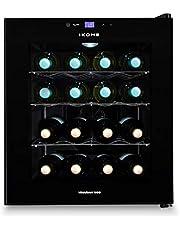 CREATE IKOHS WINECOOLER L - Vinoteca de 16 botellas, 46 l, 70 W, Luz LED, Display Digital, 3 Estantes, Doble Aislamiento, Zonas de temperatura de 11-18 grados, Baldas Acero Inoxidable