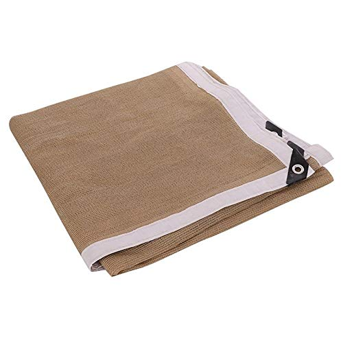 junranxingpifabu 90% Sun Block Mesh Sunblock Shade Net Cloth Fabric Sun Block, Plants Garden Pergola Cover Canopy with Grommets Shade Cloth (Color : Beige, Size : 4X8M/13.1x26.2FT)