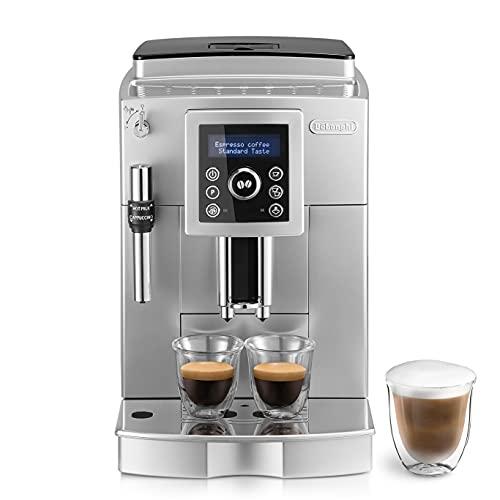De'longhi ECAM 23.420.SB - Cafetera Superautomática 15 Bares de Presión, Espresso y Cappuccino, Depósito de Agua Extraíble 1.8 l, Panel LCD, Dispensador de Café Ajustable, Limpieza Automática, Plata