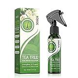 Spray de árbol de té para el cabello, spray para alisar el cabello, aceite para el cabello seco dañado y crecimiento, 100 ml 3.5 fl oz (1 unidad)