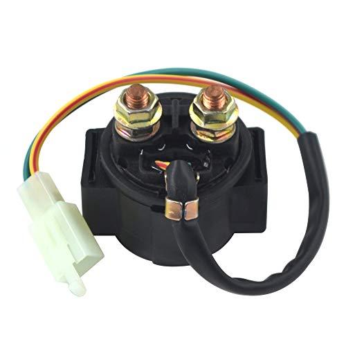 AHL Starter Solenoid Relay for 4-Stroke GY6 Engine 50cc 150cc 200cc 250cc ATV Dirt Bikes Scooters Go Kart Dne Buggys Quad 4 Wheelers Pit Bike Moped Roketa SSR Taotao Sunl Coolster