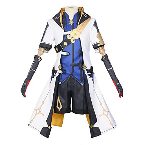 Xin Hai Yuan Game Genshin Albedo - Traje de cosplay para disfraz de anime para adultos y hombres, Halloween, S