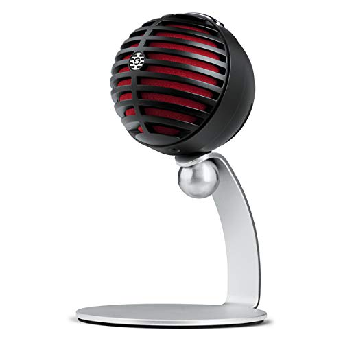 Shure MV5-B-LTG Digital Condenser Microphone for USB and Lightning, 3 DSP Preset Modes, integrated pre-amp, Zero Latency Monitoring, Headphone jack, high-quality 24 Bit / 48 kHz audio capture
